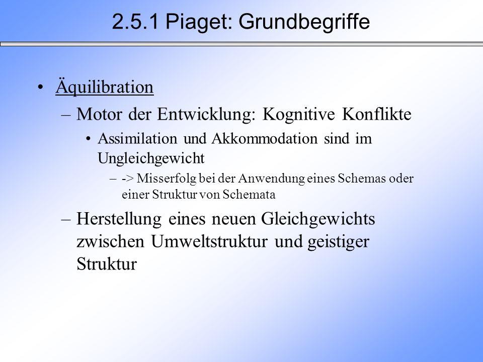 2.5.1 Piaget: Grundbegriffe