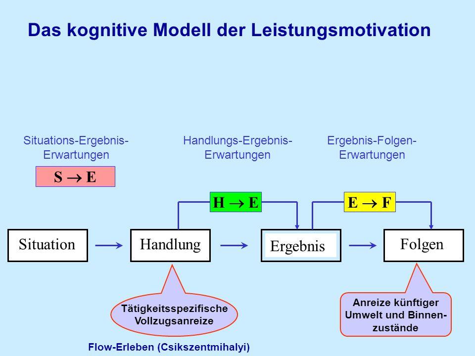 Das kognitive Modell der Leistungsmotivation