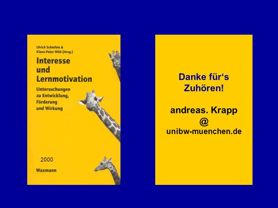 Danke für's Zuhören! andreas. Krapp @ unibw-muenchen.de