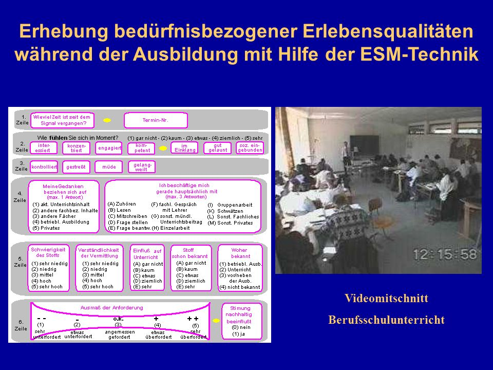 Videomitschnitt Berufsschulunterricht