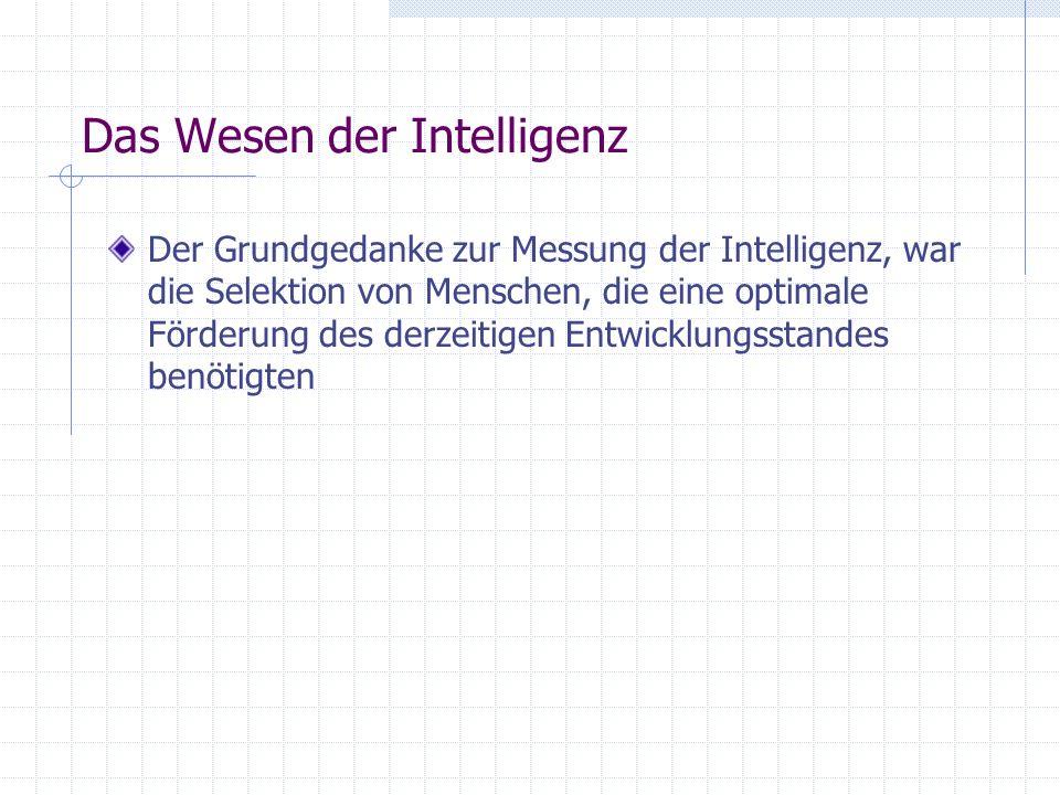 Das Wesen der Intelligenz