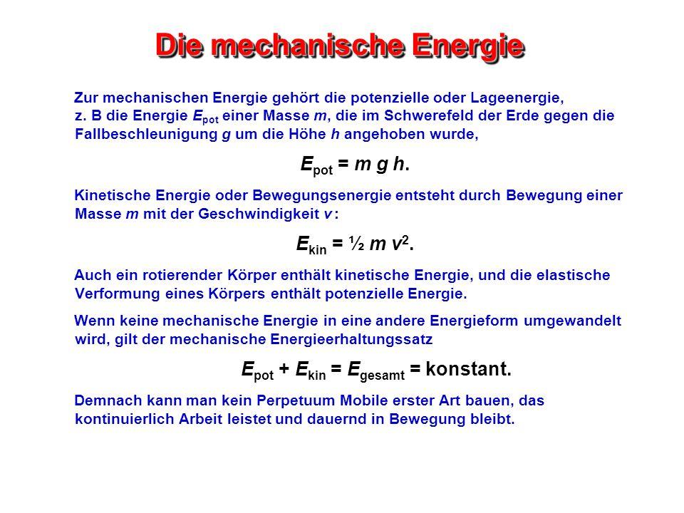 Die mechanische Energie