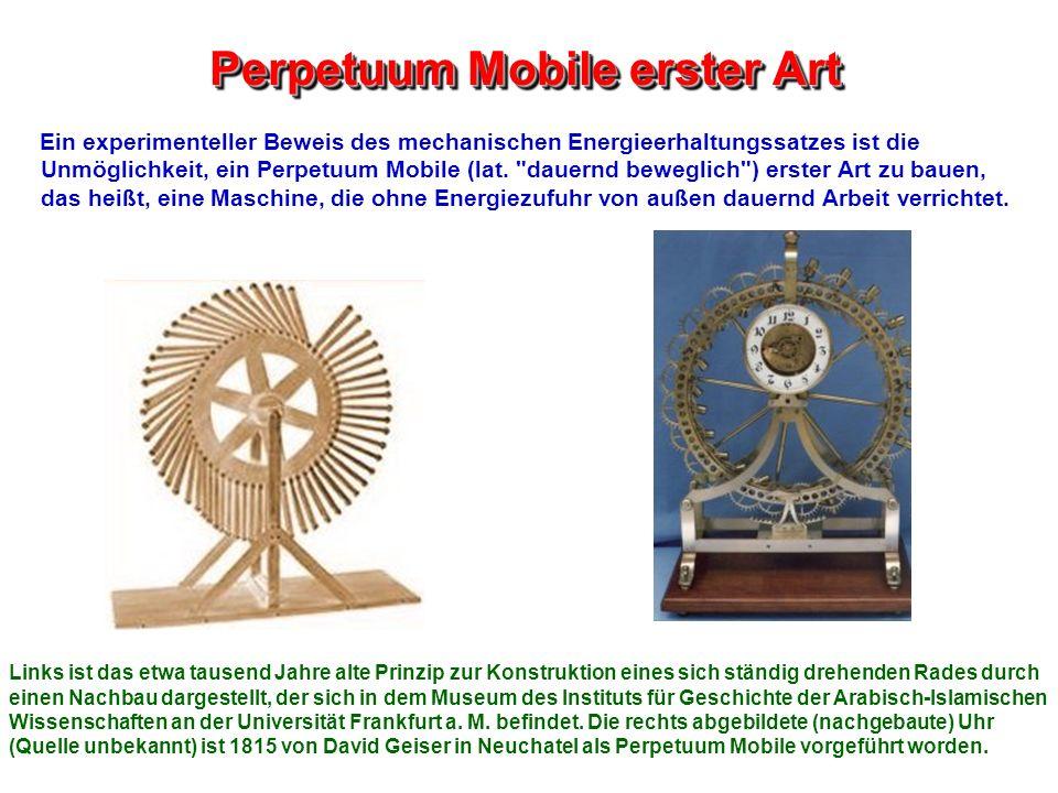 Perpetuum Mobile erster Art