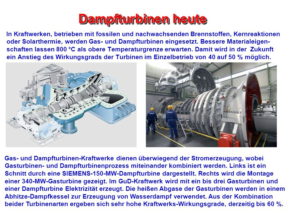 Tolle Arbeitsprinzip Der Dampfturbine Ppt Ideen - Der Schaltplan ...
