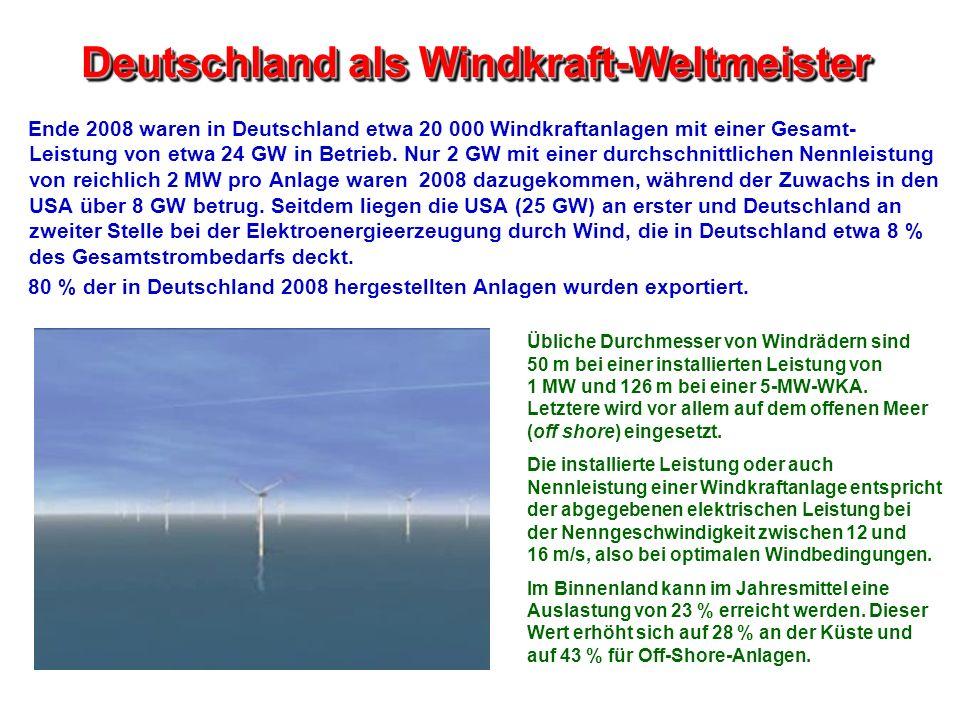 Deutschland als Windkraft-Weltmeister