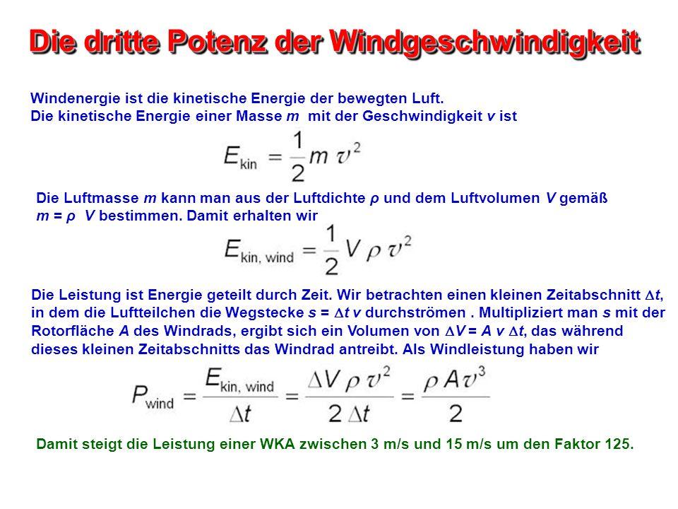 Die dritte Potenz der Windgeschwindigkeit