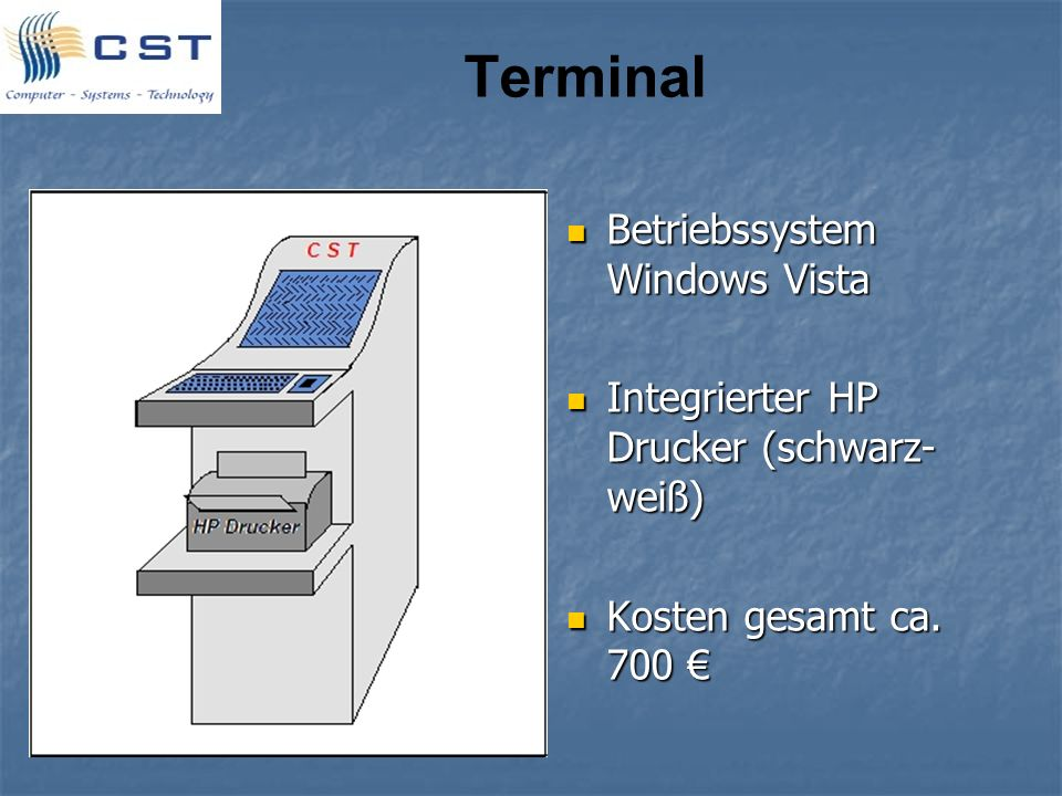 Terminal Betriebssystem Windows Vista