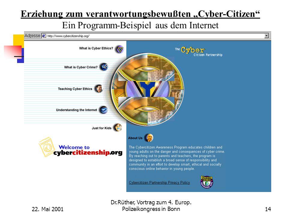 "Erziehung zum verantwortungsbewußten ""Cyber-Citizen"