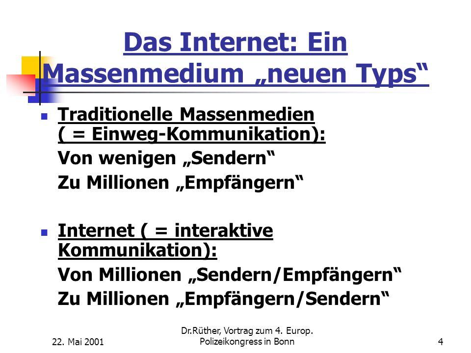 """Das Internet: Ein Massenmedium """"neuen Typs"""