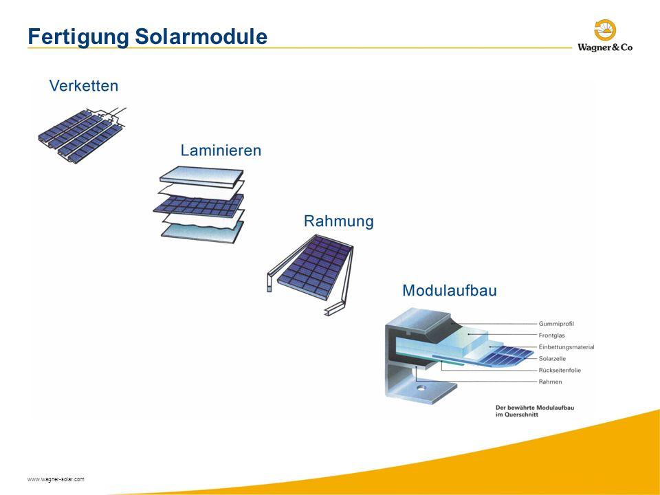 Fertigung Solarmodule