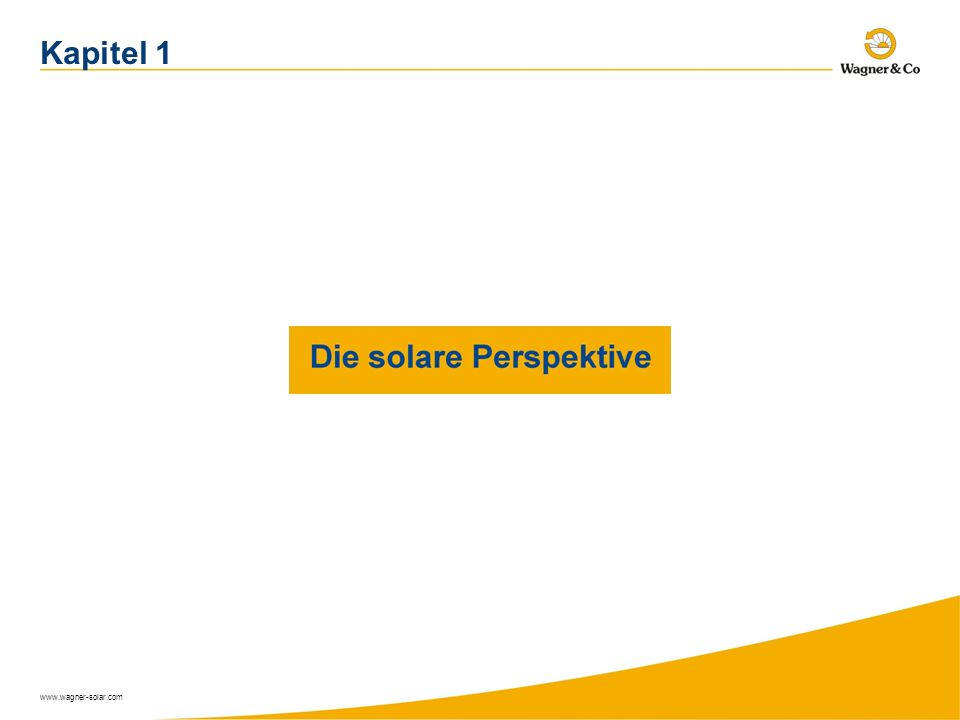 Kapitel 1 www.wagner-solar.com
