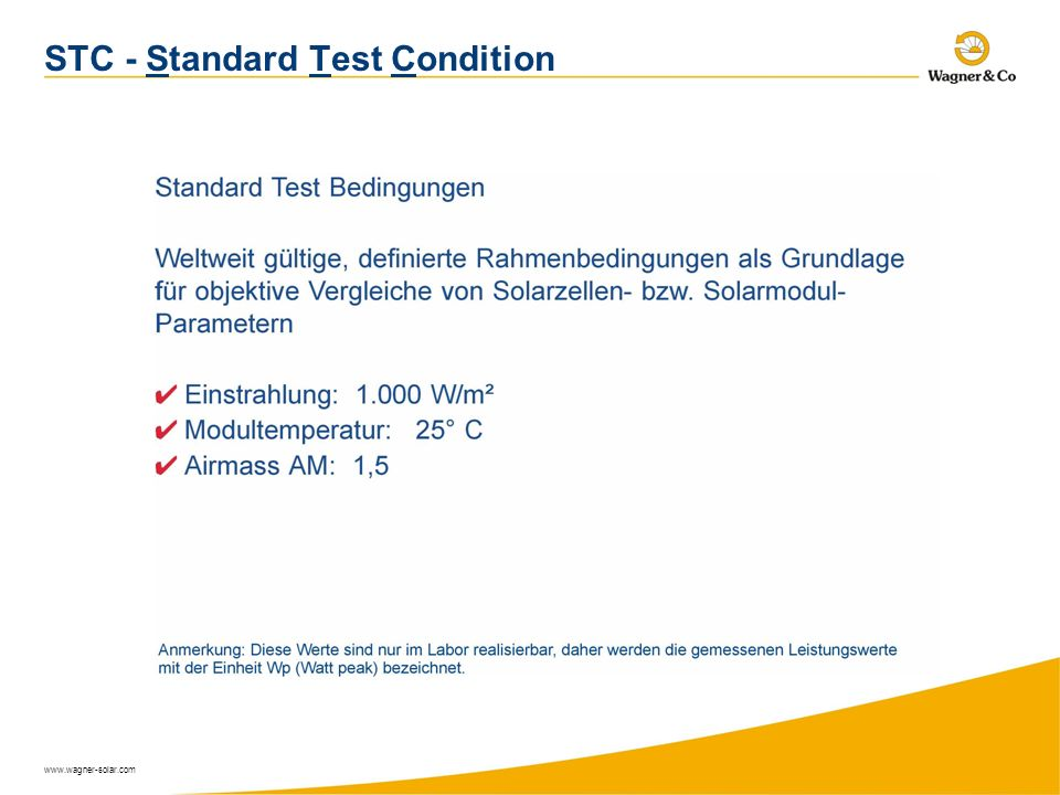 STC - Standard Test Condition