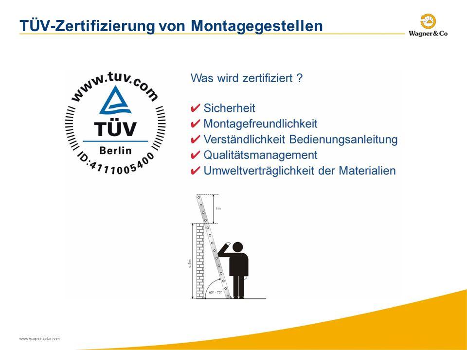TÜV-Zertifizierung von Montagegestellen