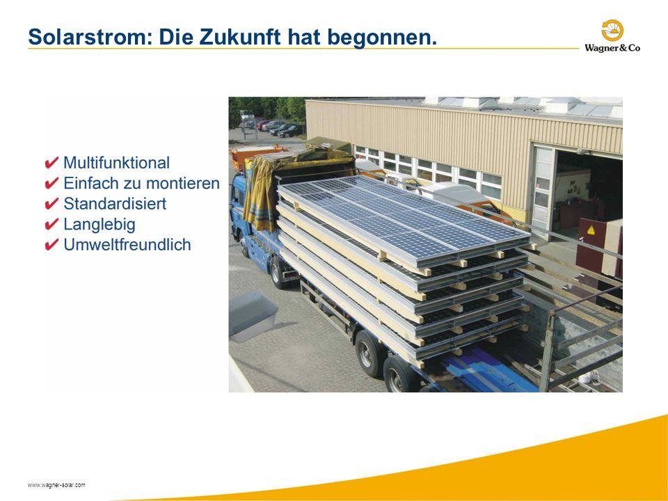 Solarstrom: Die Zukunft hat begonnen.