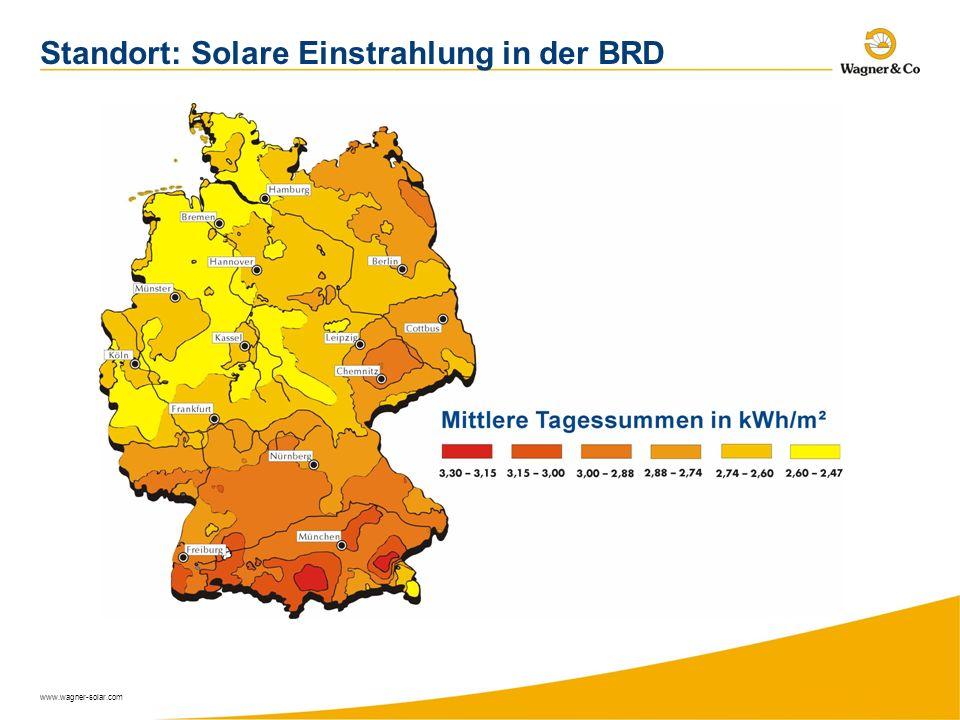 Standort: Solare Einstrahlung in der BRD