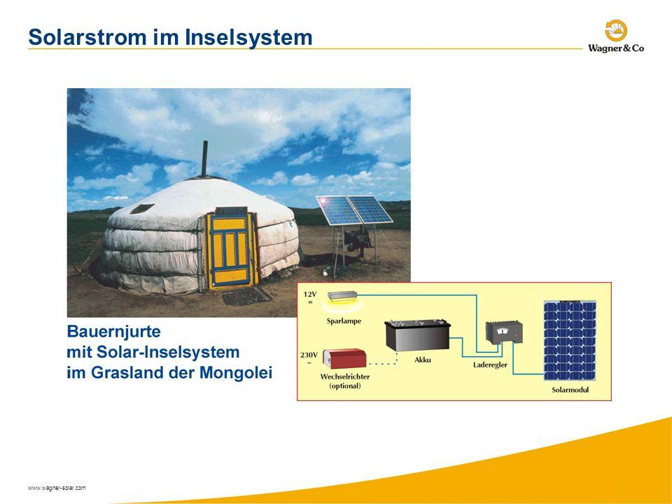 Solarstrom im Inselsystem