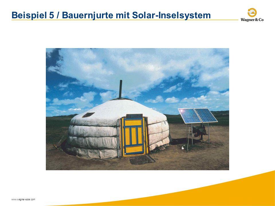 Beispiel 5 / Bauernjurte mit Solar-Inselsystem