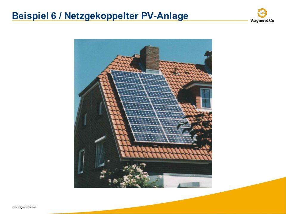 Beispiel 6 / Netzgekoppelter PV-Anlage