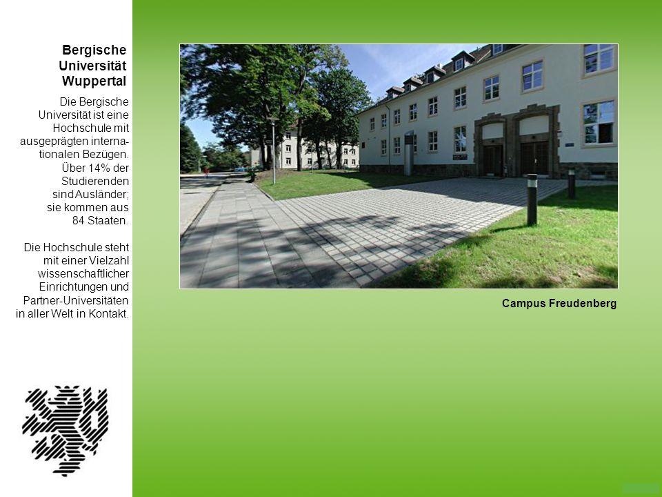 Bergische Universität Wuppertal Die Bergische Universität ist eine
