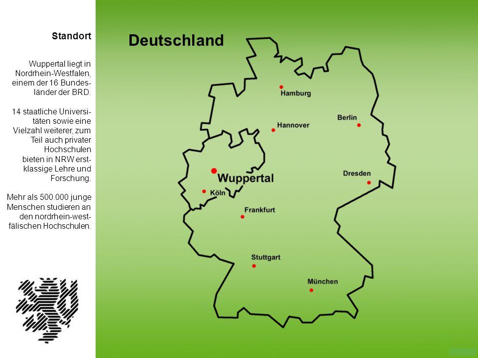 Deutschland Standort Wuppertal liegt in Nordrhein-Westfalen,