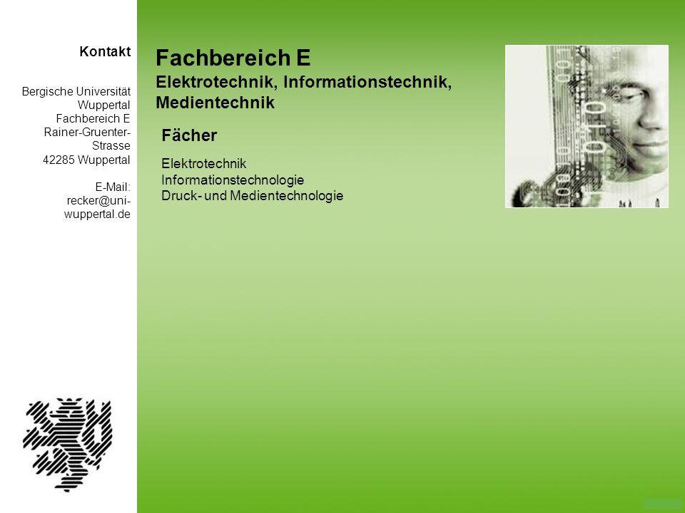 Fachbereich E Elektrotechnik, Informationstechnik, Medientechnik