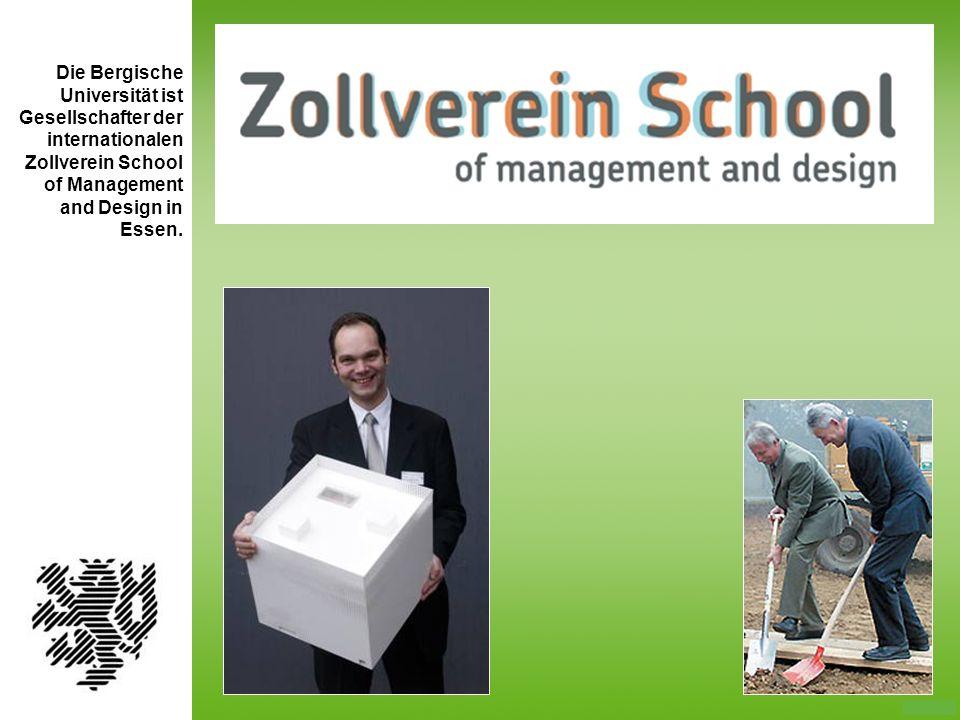 Die Bergische Universität ist Gesellschafter der internationalen Zollverein School of Management
