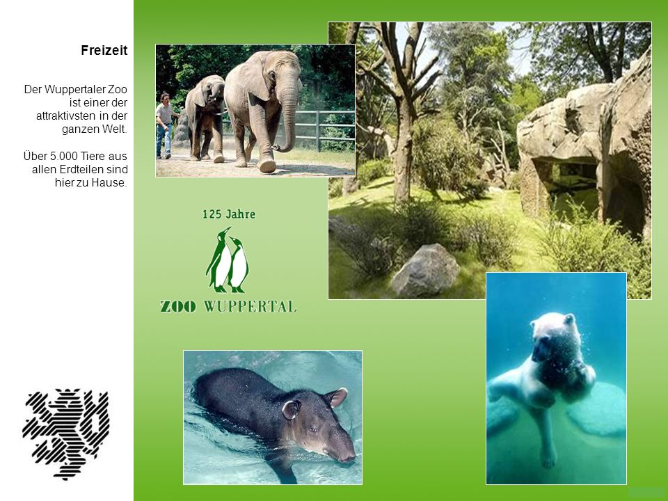 FreizeitDer Wuppertaler Zoo ist einer der attraktivsten in der ganzen Welt.