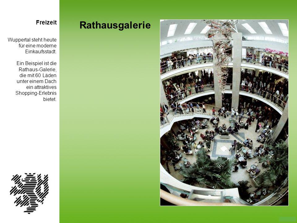 Rathausgalerie Freizeit Wuppertal steht heute