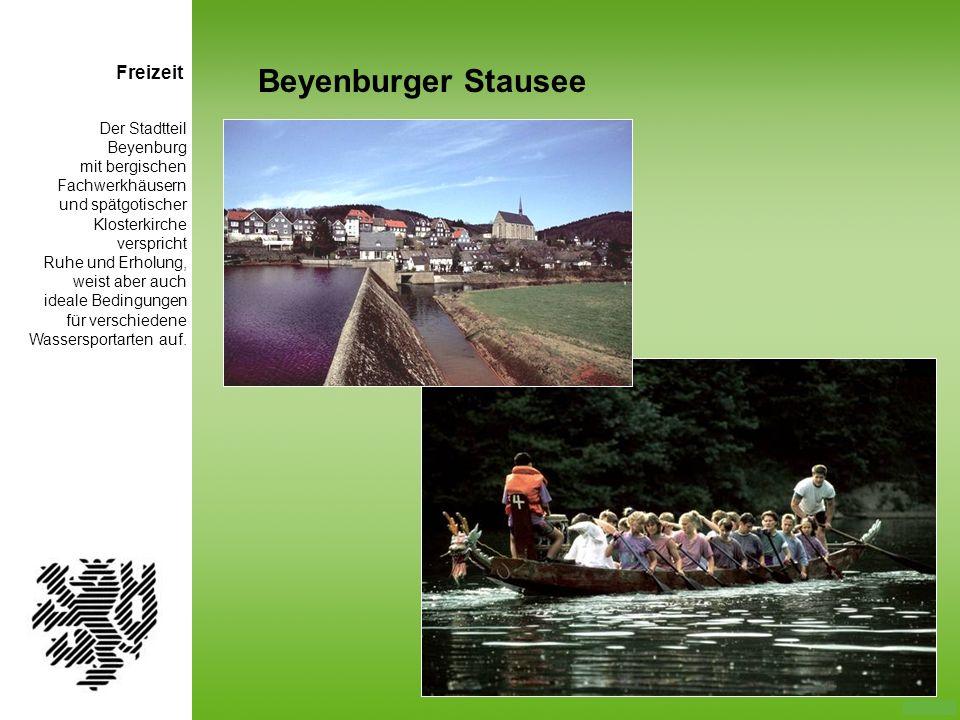 Beyenburger Stausee Freizeit Der Stadtteil Beyenburg mit bergischen