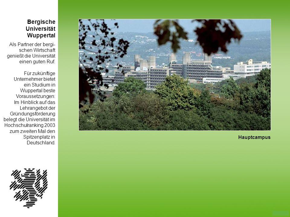 Bergische Universität Wuppertal Als Partner der bergi-