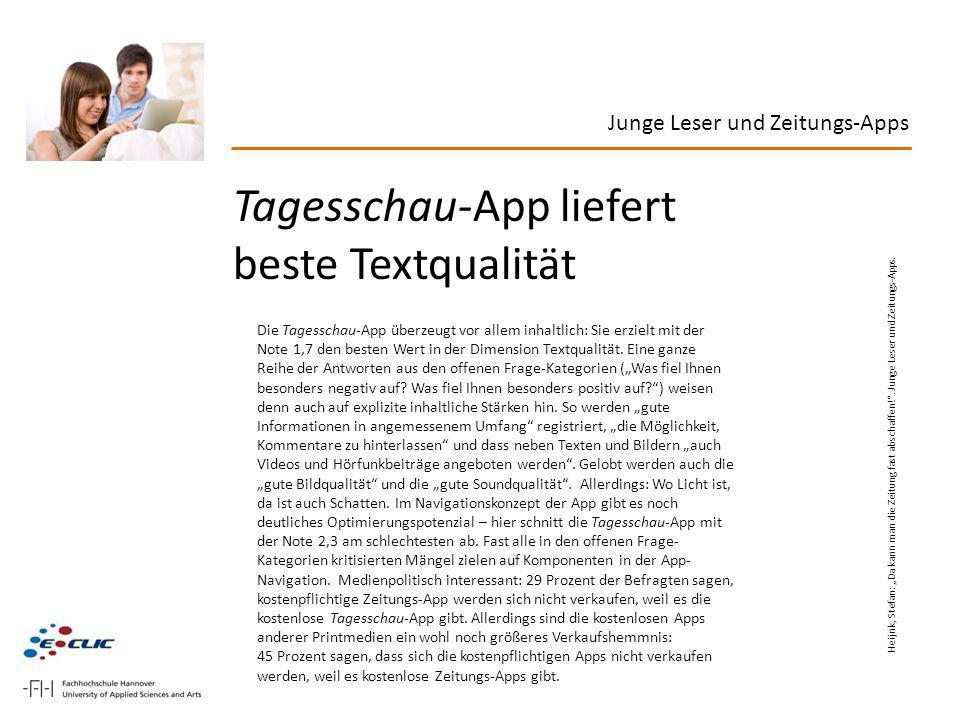 Tagesschau-App liefert beste Textqualität