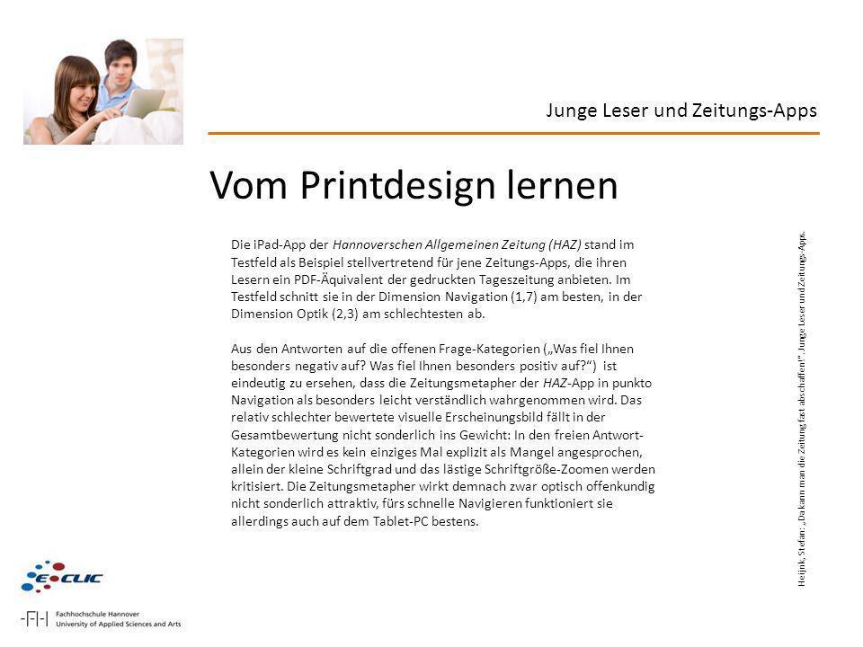 Vom Printdesign lernen