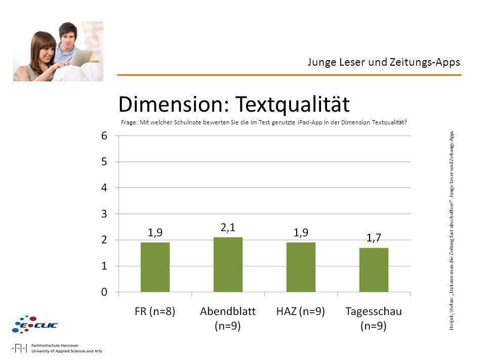 Dimension: Textqualität