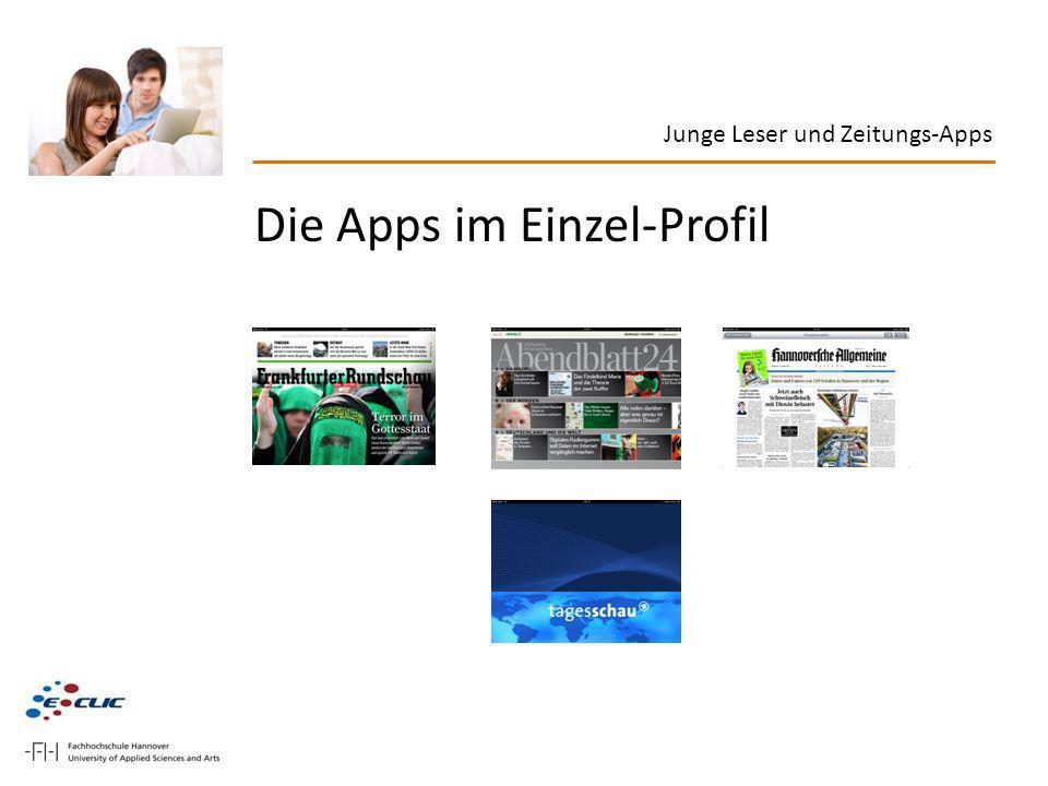 Die Apps im Einzel-Profil