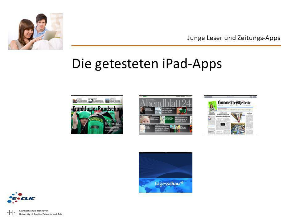 Die getesteten iPad-Apps