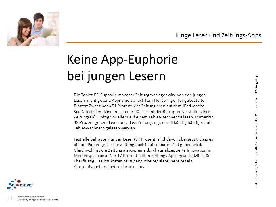 Keine App-Euphorie bei jungen Lesern