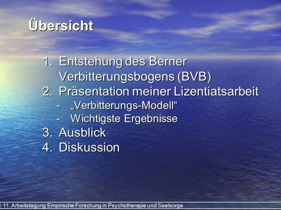 Übersicht Entstehung des Berner Verbitterungsbogens (BVB)