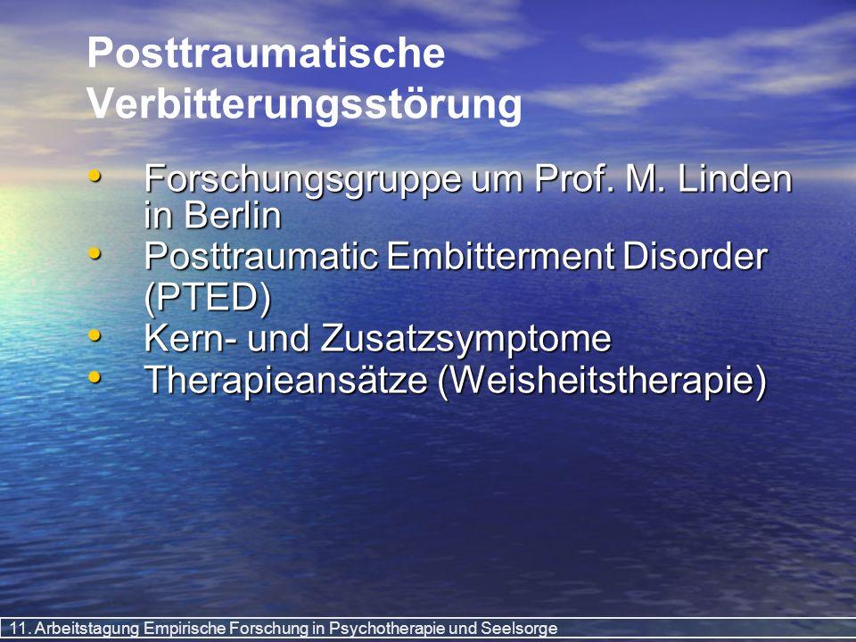Posttraumatische Verbitterungsstörung