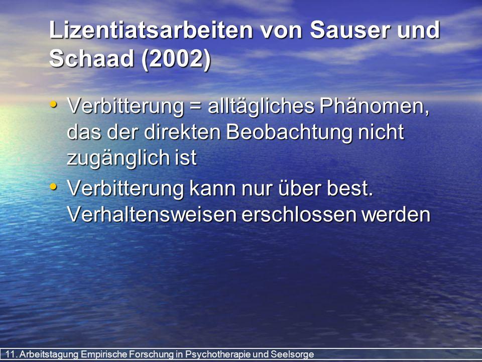 Lizentiatsarbeiten von Sauser und Schaad (2002)