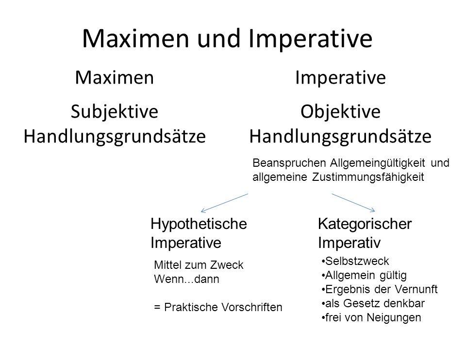 Maximen und Imperative
