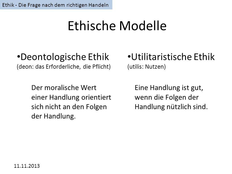 Ethik - Die Frage nach dem richtigen Handeln