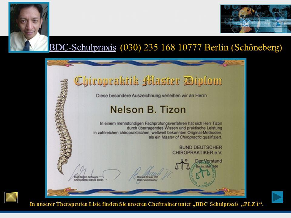 BDC-Schulpraxis (030) 235 168 10777 Berlin (Schöneberg)