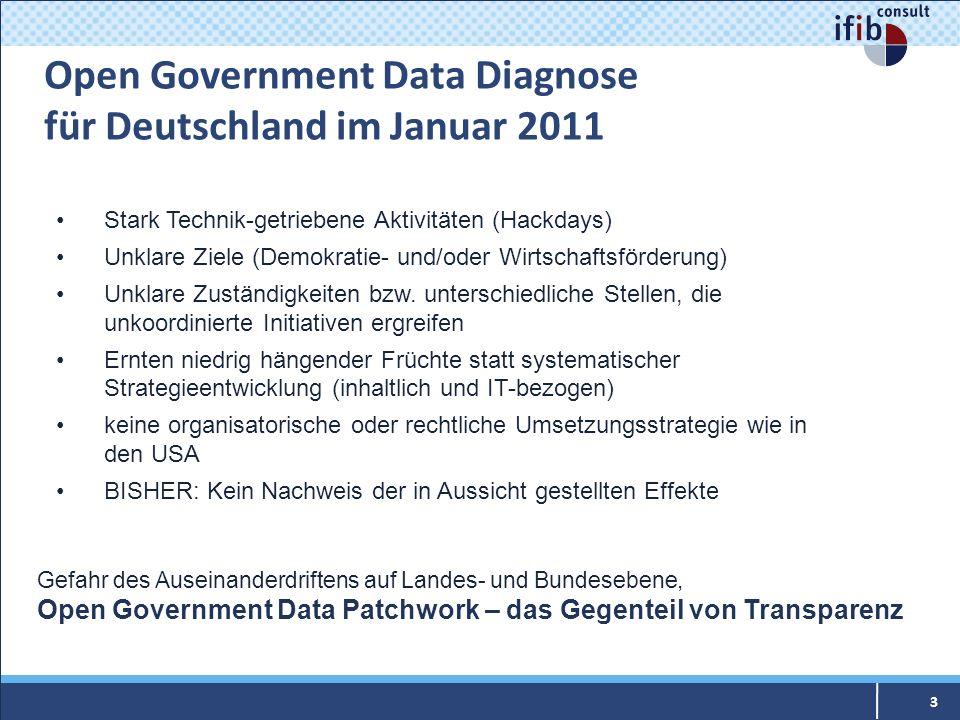 Open Government Data Diagnose für Deutschland im Januar 2011
