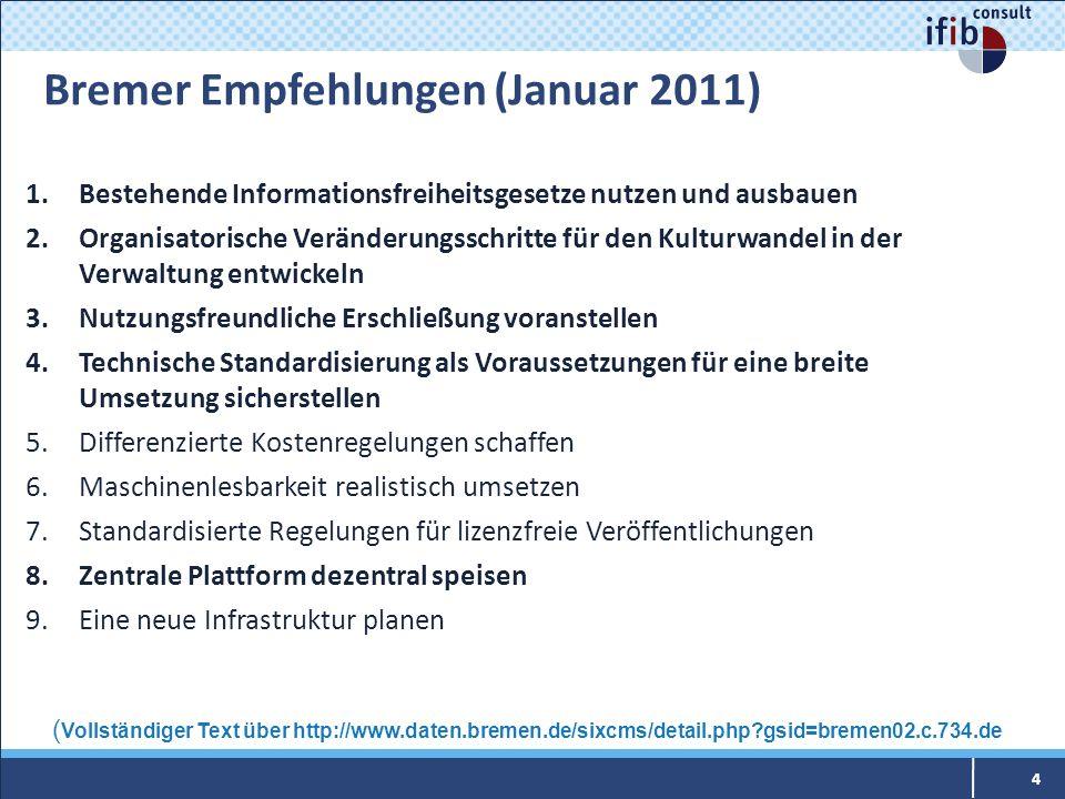 Bremer Empfehlungen (Januar 2011)