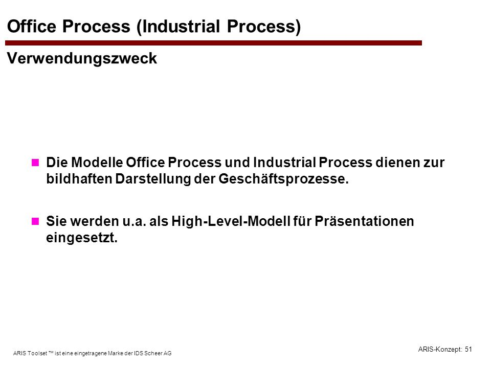 Office Process (Industrial Process) Verwendungszweck