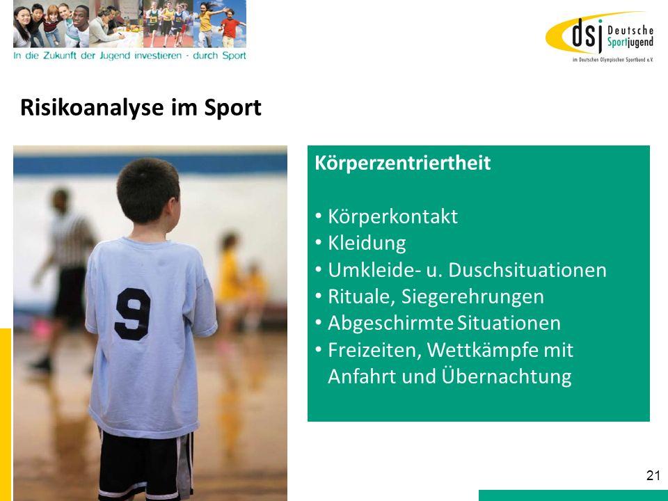 Risikoanalyse im Sport