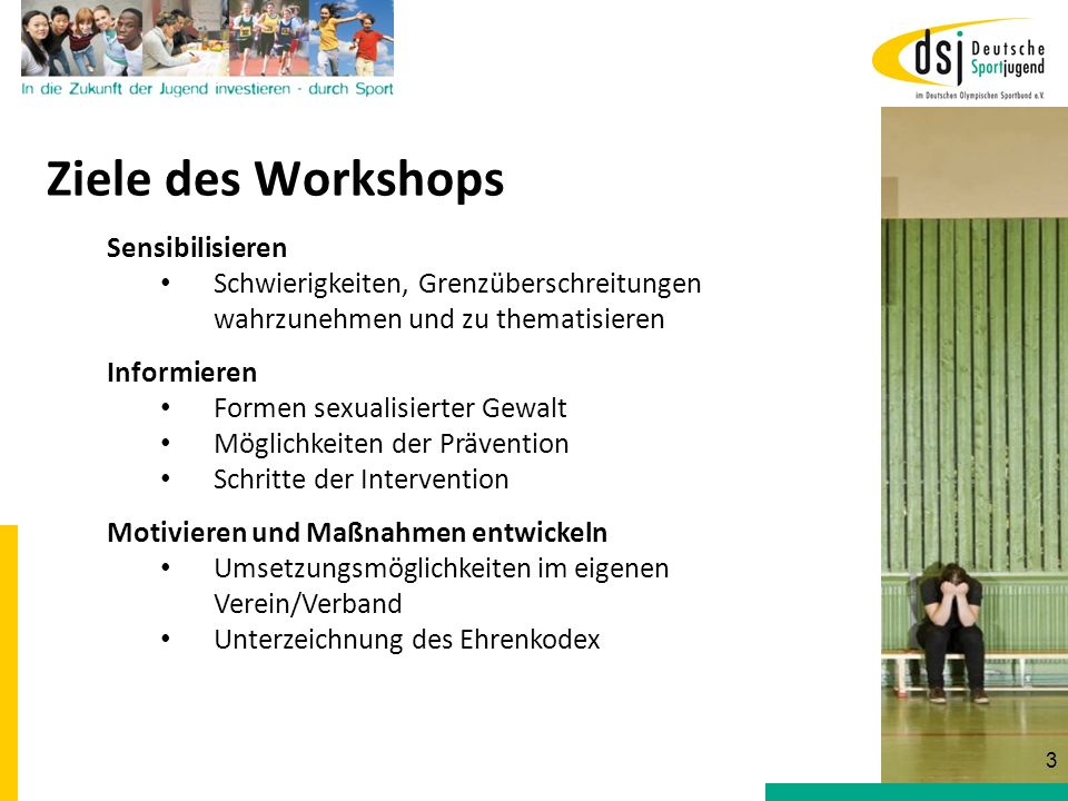 Ziele des Workshops Sensibilisieren