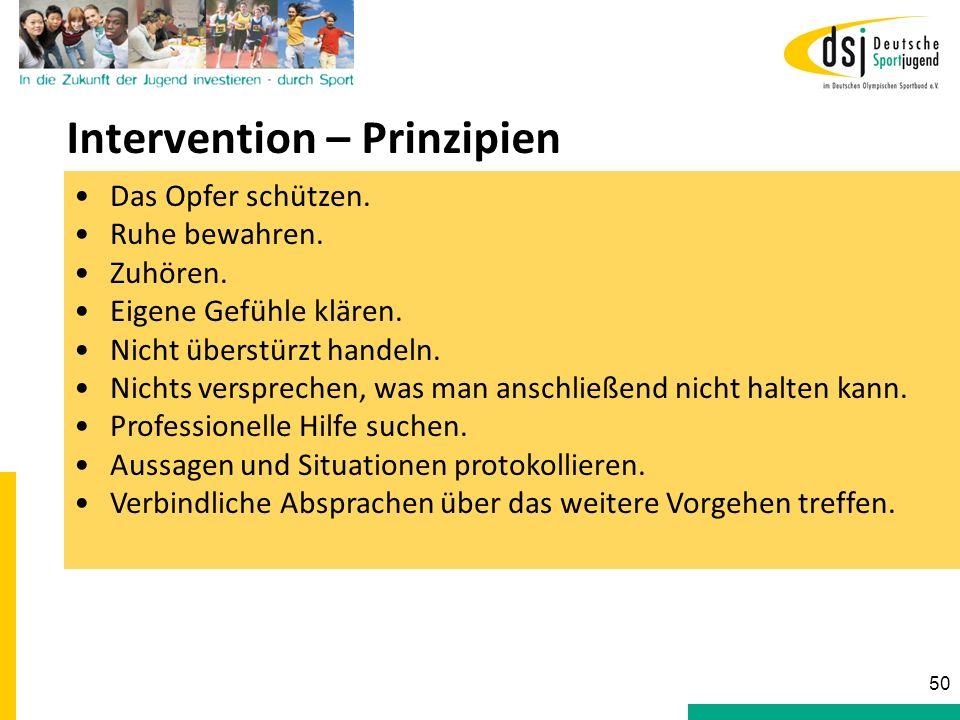 Intervention – Prinzipien