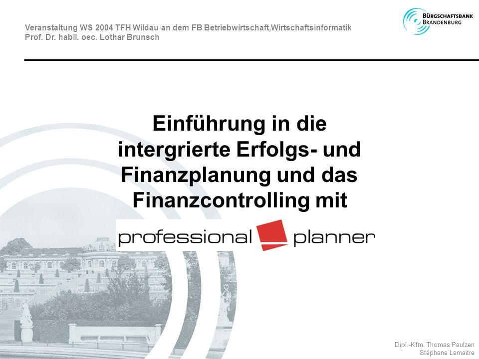 Veranstaltung WS 2004 TFH Wildau an dem FB Betriebwirtschaft,Wirtschaftsinformatik