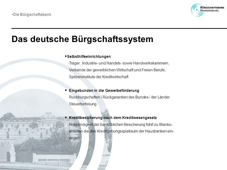 Das deutsche Bürgschaftssystem